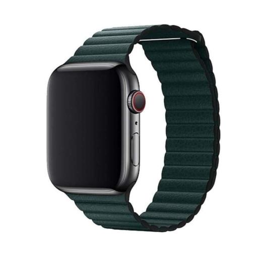 DEVIA Apple watch Elegant Leather Loop 38/40 mm óraszíj - zöld