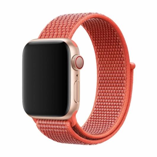 DEVIA Apple watch Deluxe Series Sport 3 Band 42/44 mm óraszíj - barack