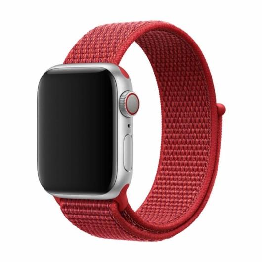 DEVIA Apple watch Deluxe Series Sport 3 Band 42/44 mm óraszíj - piros