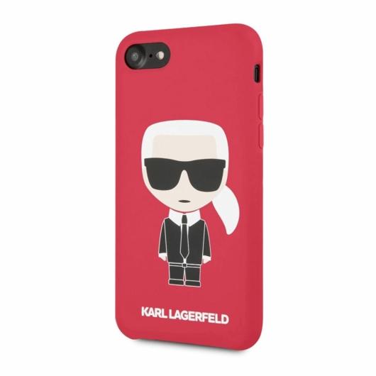 Apple iPhone 7/8/SE2 KARL LAGERFELD KLHCI8SLFKRE Hátlap - Piros
