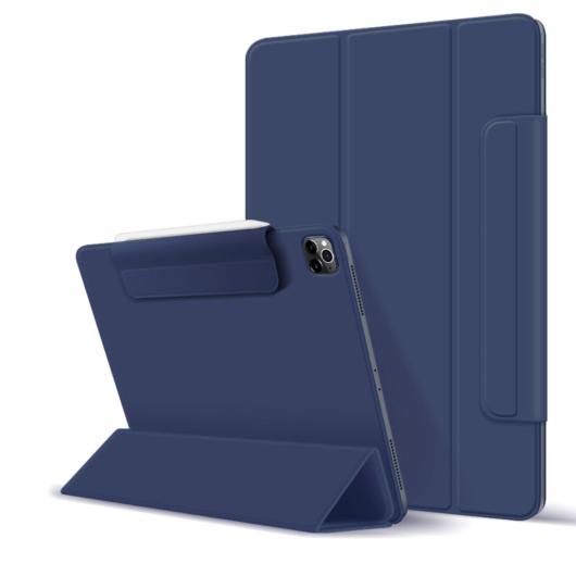 """Smart book tok pánttal sötétkék, Ipad Pro 12,9"""" (2020) / Pro 12,9"""" (2021) készülékhez"""