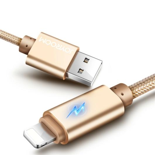 Joyroom S-Q3 Lightning 1M Adatkábel - Arany - Tőltés Kijelzés