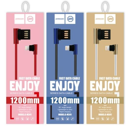 Joyroom S-M341 USB Type-C 1M L Adatkábel - Piros - L alak