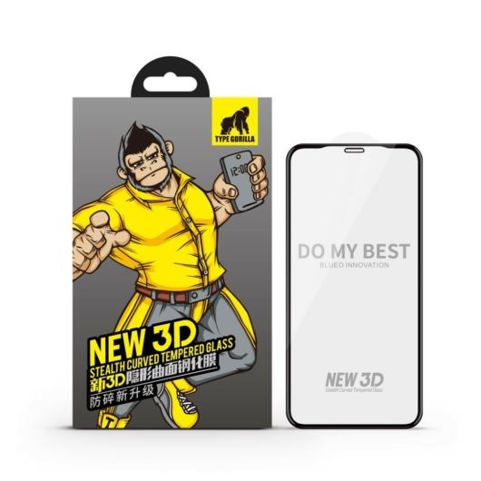 Apple iPhone 7/8 TG New 3D Stealth Full Üvegfólia - Fekete - HD Clear/Átlátszó