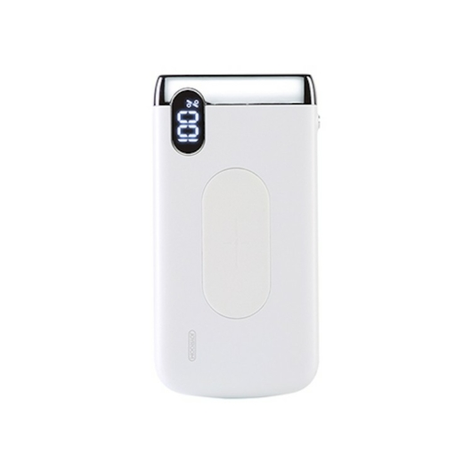 Joyroom D-M194 plus Elegance 20000 mAh Wireless Powerbank - Fehér - Digitális Kijelzés