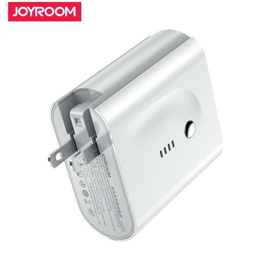 Joyroom D-T189 Traveling 2in1 5000 mAh Powerbank és Hálózati Töltő - Fehér - PD Gyorstöltés