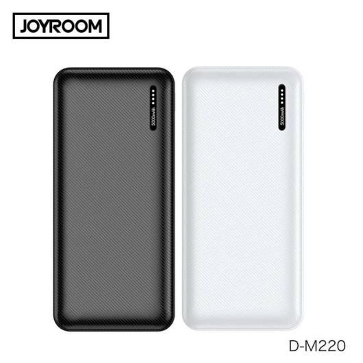 Joyroom D-M220 Mini 5000 mAh Powerbank - Fehér - Tőltés Kijelzés