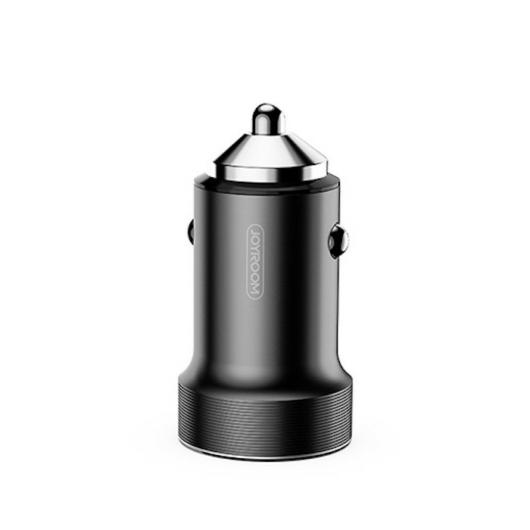 Joyroom C-A02 Wise 3.4A 2xUSB Autós Töltőfej + Lightning 1M Adatkábel - Fekete - Quick Charge/Gyorstöltés