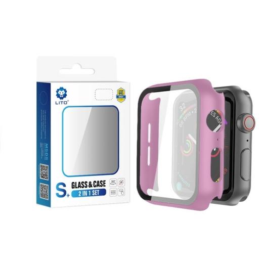 Apple iWatch 4/5 44mm Lito S+ Üveg Előlap - Rózsaszín - Anti-Shock/Ütésálló