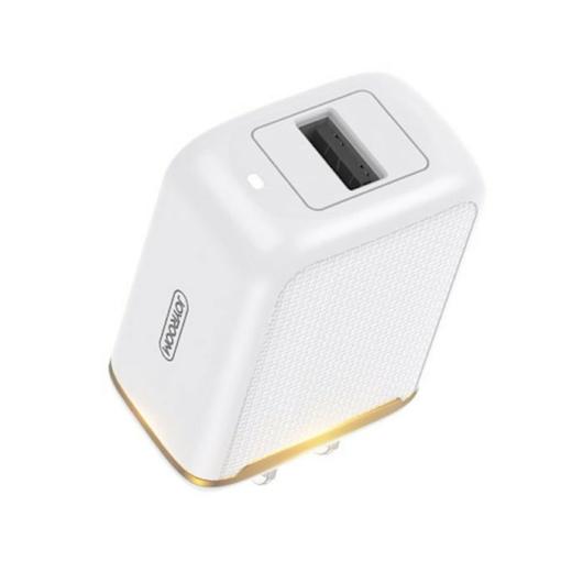 Joyroom L-A12Z 2.4A 1xUSB Hálózati Töltőfej + Lightning 1M Adatkábel - Fehér - Quick Charge/Gyorstöltés