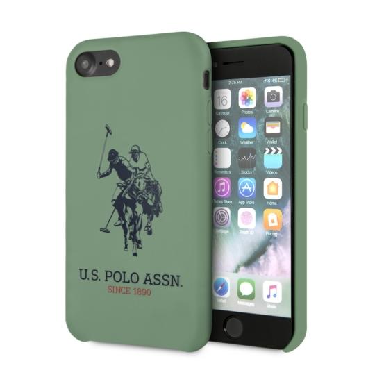 Apple iPhone 7/8/SE2 U.S.Polo USHCI8SLHRGN Liquid Hátlap - Zöld