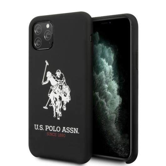 Apple iPhone 11 Pro Max U.S.Polo USHCN65SLHRBK Liquid Hátlap - Fekete