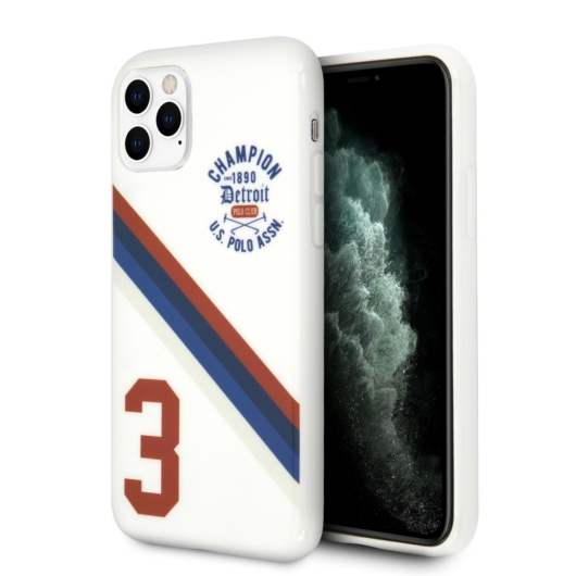 Apple iPhone 11 Pro Max U.S.Polo USHCN65PCDGS Hátlap - Fehér