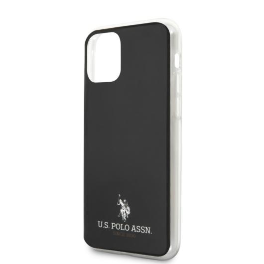 Apple iPhone 12/12 Pro U.S.Polo USHCP12MTUHRBK Hátlap - Fekete