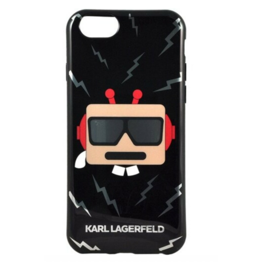Apple iPhone 6/6S KARL LAGERFELD KLHCP6BOT Hátlap - Fekete