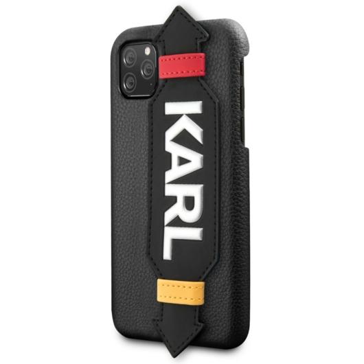 Apple iPhone 11 Pro KARL LAGERFELD KLHCN58HDAWBK Bőr Hátlap - Fekete