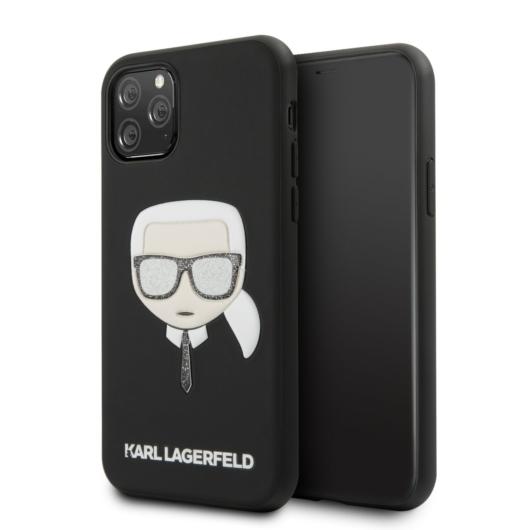 Apple iPhone 11 Pro KARL LAGERFELD KLHCN58GKBK Hátlap - Fekete