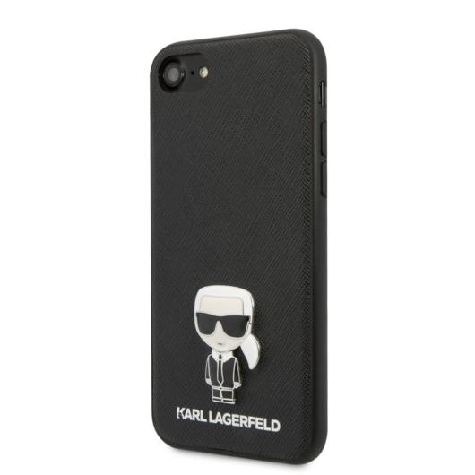 Apple iPhone 7/8/SE2 KARL LAGERFELD KLHCI8IKFBMBK Hátlap - Fekete