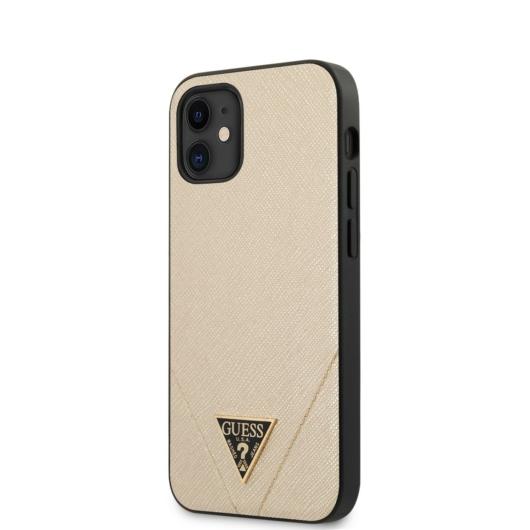 Apple iPhone 12 Pro Max GUESS GUHCP12LVSATMLLG Hátlap - Arany