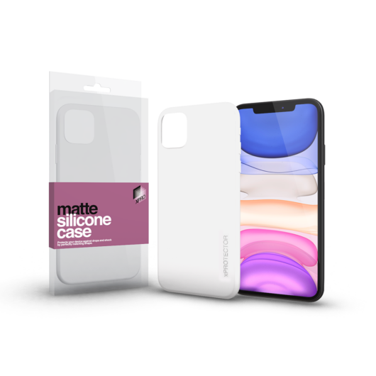 Szilikon matte tok ultra vékony opál fehér Apple iPhone 11 Pro készülékhez