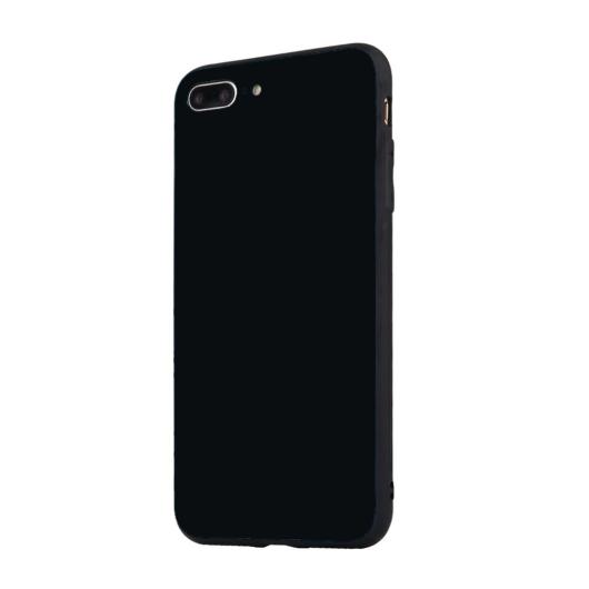 Tempered Glass tok fekete Apple Iphone 7Plus/8Plus készülékhez