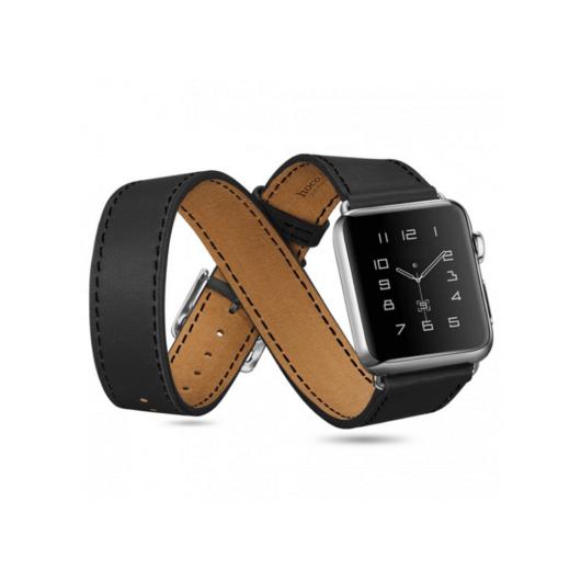 Apple Watch átkötős szíj. Fekete. 42/44mm