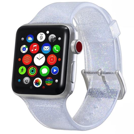 Apple Watch csillámos szíj Ezüst. 42/44mm