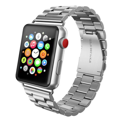 Apple Watch rozsdamentes. vastag acél szíj Ezüst. 42/44mm