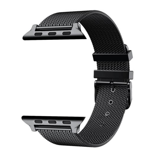 Apple Watch rozsdamentes. vékony acél szíj . Fekete. 38/40mm