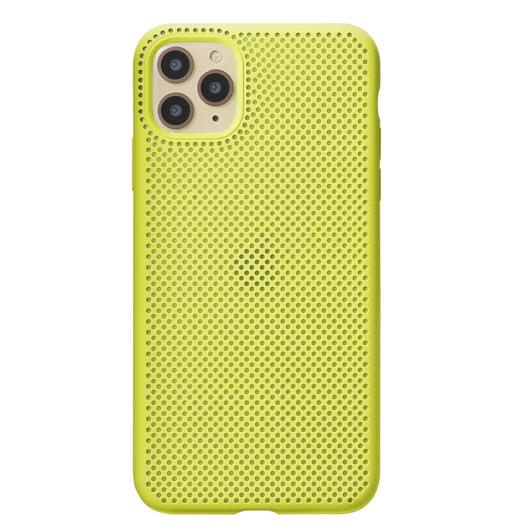 Breathing Silicone Case citromsárga Apple Iphone Xs Max készülékhez
