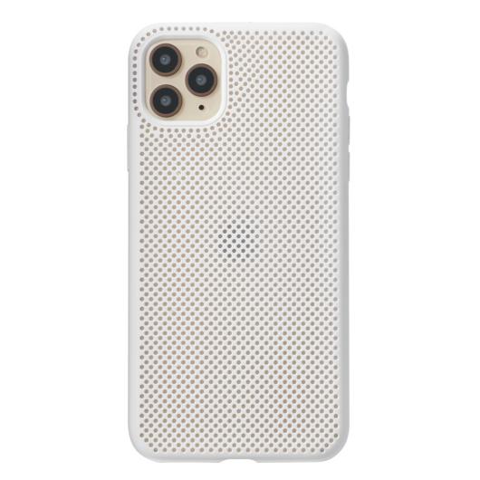 Breathing Silicone Case fehér Apple Iphone 11 Pro Max készülékhez