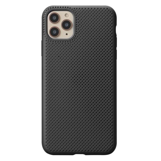 Breathing Silicone Case fekete Apple Iphone 11 Pro Max készülékhez