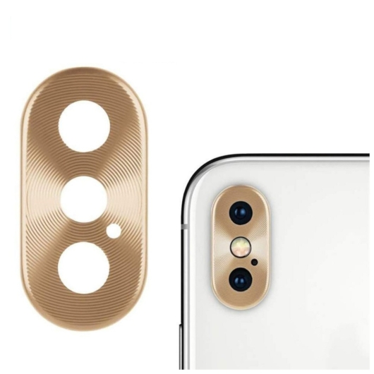 Kamera védő arany. Apple Iphone X