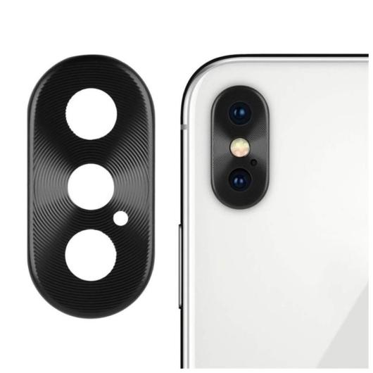 Kamera védő fekete. Apple Iphone X