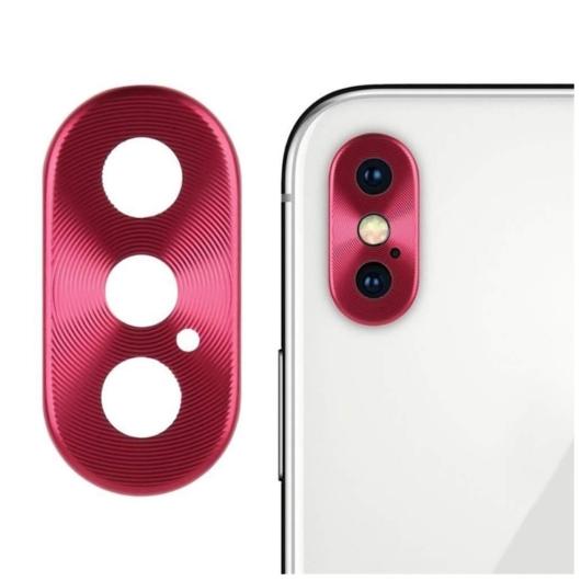 Kamera védő piros. Apple Iphone Xs
