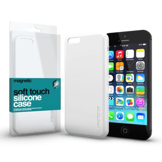 Magnetic Soft Touch Silicone Case fehér Apple iPhone 5 / 5S / SE (2016) készülékhez