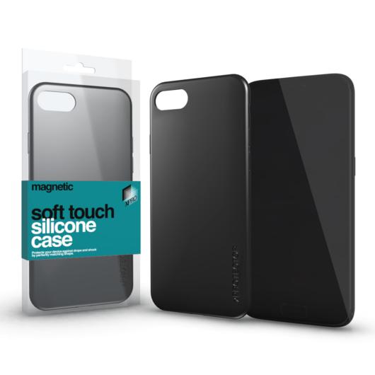 Magnetic Soft Touch Silicone Case fekete Apple iPhone Xs Max készülékhez