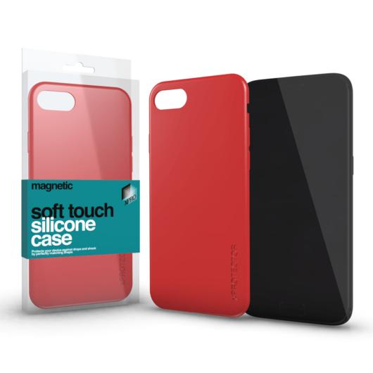 Magnetic Soft Touch Silicone Case korallpiros Apple iPhone Xs Max készülékhez