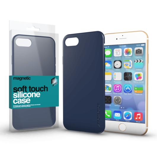 Magnetic Soft Touch Silicone Case sötétkék Apple iPhone 6 / 6S készülékhez