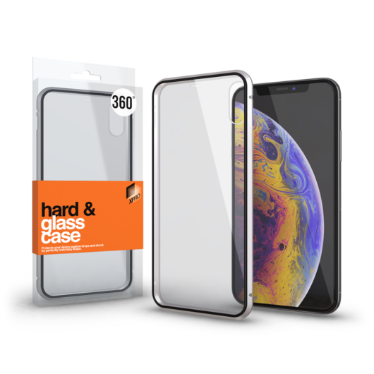 Magnetic tok (360°) Átlátszó. Ezüst kerettel Apple iPhone 11 Pro Max készülékhez