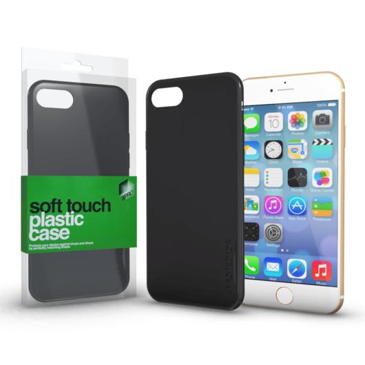 Plasztik tok Soft-touch felülettel fekete Apple iPhone 6 Plus / 6S Plus készülékhez