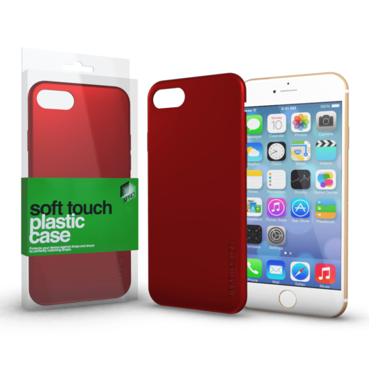 Plasztik tok Soft-touch felülettel piros Apple iPhone 6 / 6S készülékhez