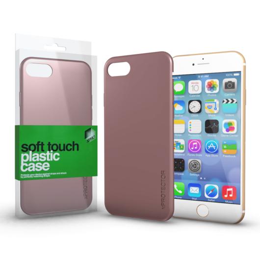 Plasztik tok Soft-touch felülettel rozé arany Apple iPhone 7 Plus / 8 Plus készülékhez