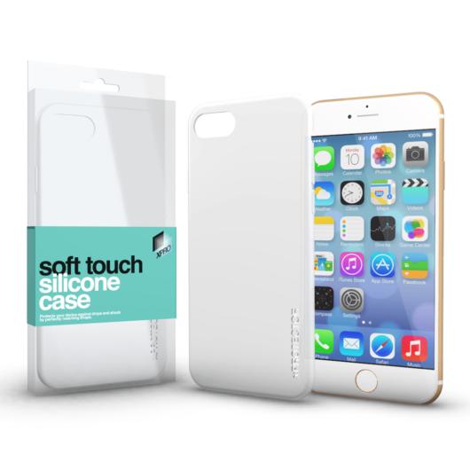 Soft Touch Silicone Case fehér Apple iPhone 7 Plus / 8 Plus készülékhez