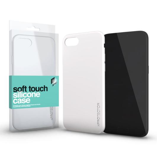 Soft Touch Silicone Case fehér Apple iPhone Xs Max készülékhez