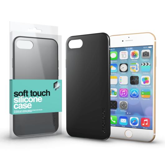 Soft Touch Silicone Case fekete Apple iPhone 6 / 6S készülékhez