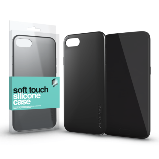 Soft Touch Silicone Case fekete Apple iPhone Xs Max készülékhez