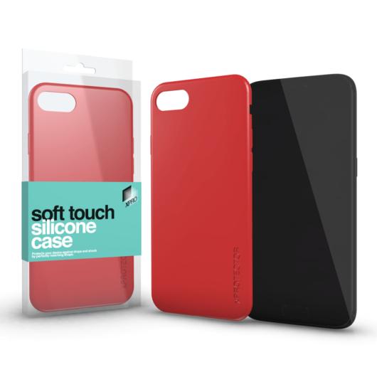Soft Touch Silicone Case korallpiros Apple iPhone Xs Max készülékhez