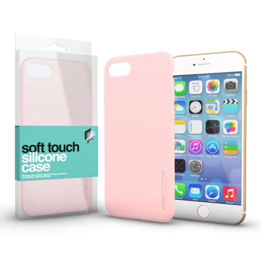 Soft Touch Silicone Case púder pink Apple iPhone 6 / 6S készülékhez