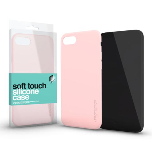 Soft Touch Silicone Case púder pink Apple iPhone Xs Max készülékhez